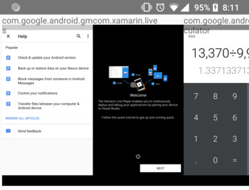 Accessing screenshots from Android's Recent Apps screen