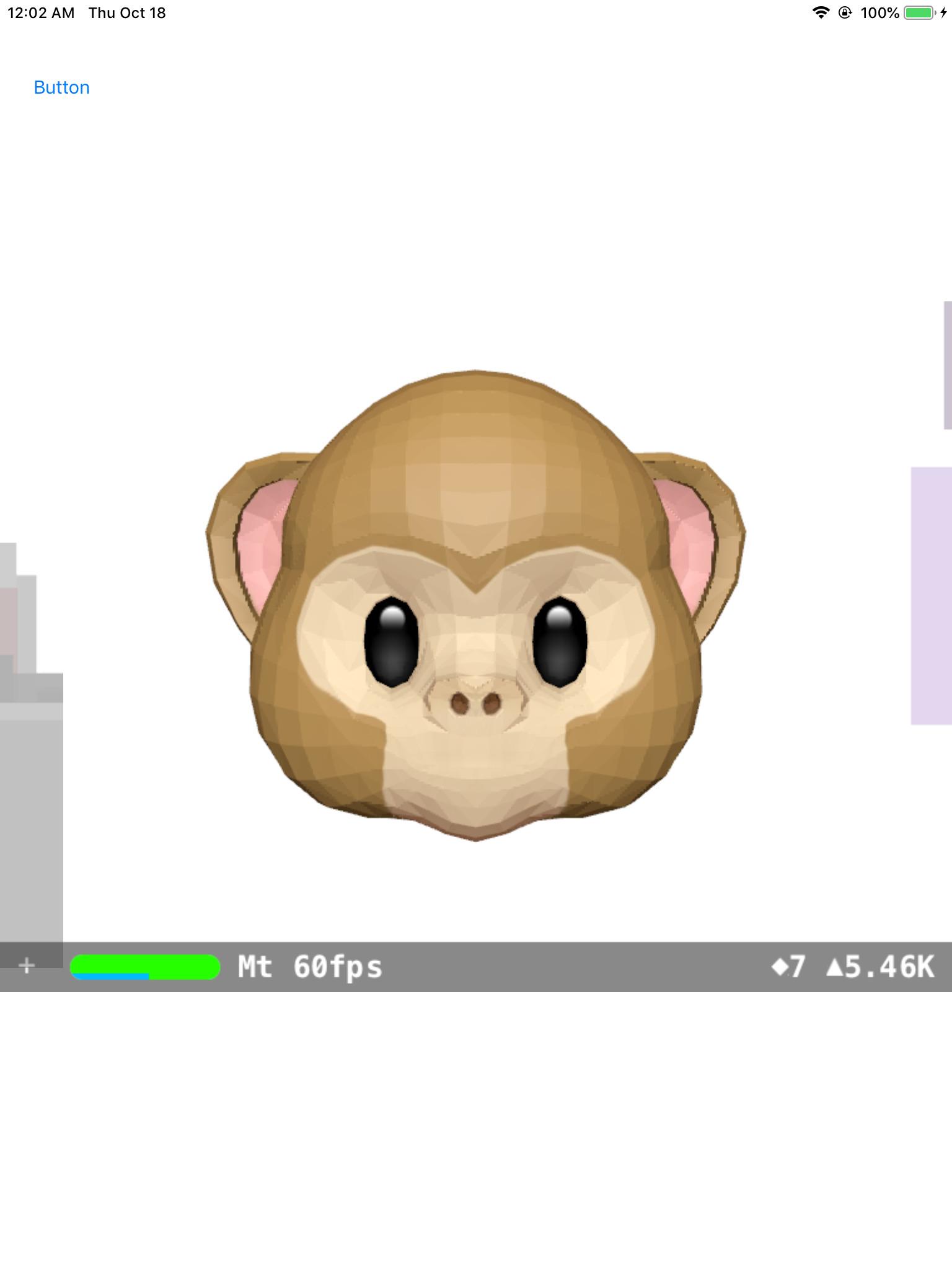 low-polygon screenshot of the Monkey Animoji